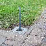 Fundatie voor installatie tuinverlichting