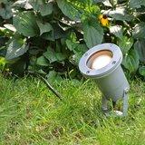 Sfeerfoto Hamburg tuinspot zilver 230v Wellicht Buitenverlichting