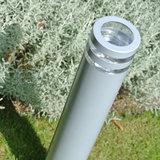 Moderne led buitenlamp zilver staand 230v