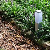 Tuinlamp vierkant zilver 45 cm 230v