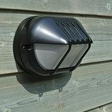 Bulleye buitenlamp zwart aluminium met rooster