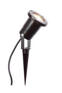 LED Tuinspot zwart 230v gu10 met snoer en stekker