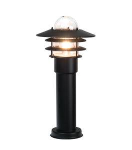 LED Buitenverlichting staand 230v zwart rond