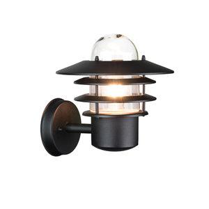 LED Buiten wanlamp zwart 230v