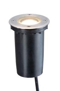 LED grondspot rond 230v rvs