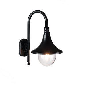 Buiten wandlamp zwart 230v Milaan 1210