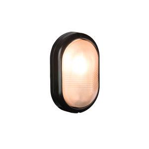 Bulleye buiten wandlamp 230v zwart